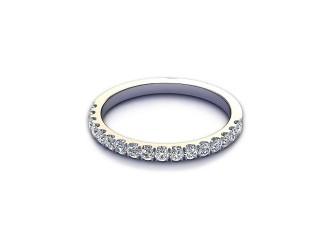 Half-Set Diamond Wedding Ring 0.36cts. in 9ct. White Gold-W88-46520