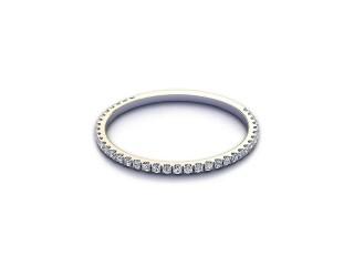 Half-Set Diamond Wedding Ring 0.15cts. in 9ct. White Gold-W88-46527