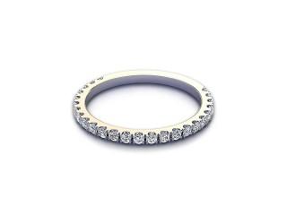 Half-Set Diamond Wedding Ring 0.33cts. in 9ct. White Gold-W88-46528