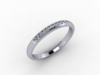 0.13cts. 1/4 Set 18ct White Gold Eternity Ring