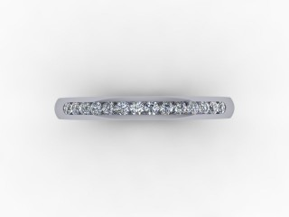 0.16cts. 1/3 Set 18ct White Gold Eternity Ring - 9