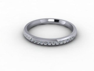 0.23cts. Half-Set 18ct White Gold Eternity Ring-88-05702