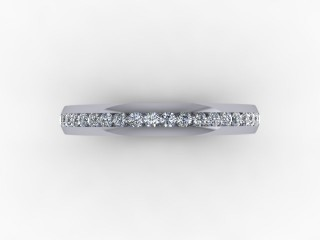 0.26cts. Half-Set 18ct White Gold Eternity Ring