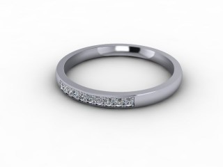 0.11cts. 1/4 Set 18ct White Gold Eternity Ring-88-05706