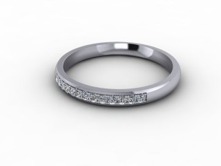 0.14cts. 1/3 Set 18ct White Gold Eternity Ring-88-05707