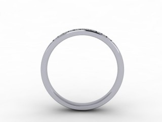 0.14cts. 1/3 Set 18ct White Gold Eternity Ring - 3