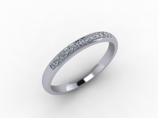 0.14cts. 1/3 Set 18ct White Gold Eternity Ring - 12