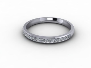 0.21cts. Half-Set 18ct White Gold Eternity Ring-88-05708