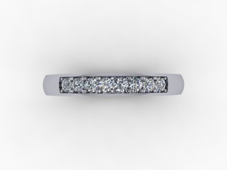 0.20cts. 1/4 Set 18ct White Gold Eternity Ring - 9