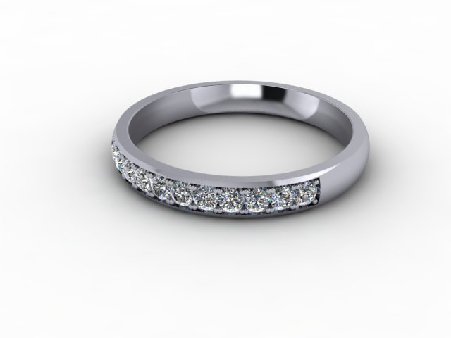 0.26cts. 1/3 Set 18ct White Gold Eternity Ring