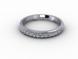 0.36cts. Half-Set 18ct White Gold Eternity Ring-88-05711