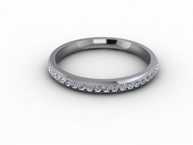 0.34cts. 3/4 Set 18ct White Gold Eternity Ring