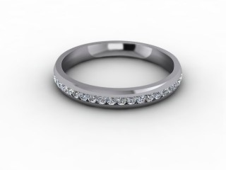 0.41cts. 3/4 Set 18ct White Gold Eternity Ring-88-05714
