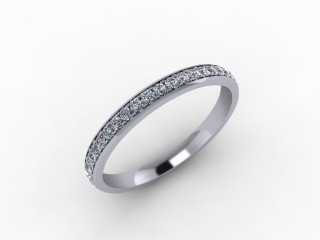 0.30cts. 3/4 Set 18ct White Gold Eternity Ring