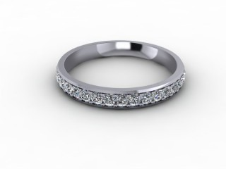 0.48cts. 3/4 Set 18ct White Gold Eternity Ring-88-05718