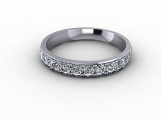 0.60cts. Half-Set 18ct White Gold Eternity Ring-88-05723