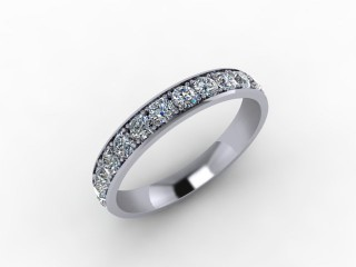 1.12cts. Full 18ct White Gold Eternity Ring - 12