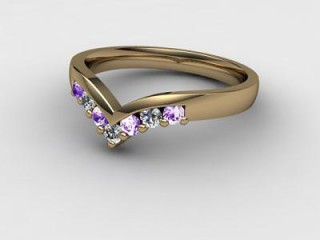 Amethyst and Diamond 0.21cts. in 9ct. Yellow Gold-88-09015-112