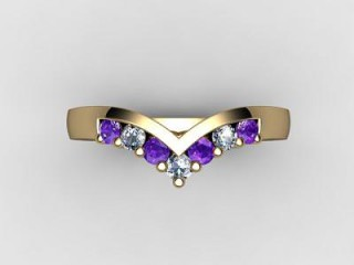 Amethyst and Diamond 0.21cts. in 18ct. Yellow Gold