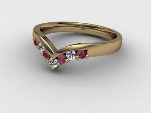 Ruby and Diamond 0.26cts. in 18ct. Yellow Gold