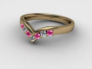 Pink Sapphire and Diamond 0.26cts. in 18ct. Yellow Gold