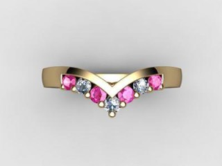 Pink Sapphire and Diamond 0.26cts. in 18ct. Yellow Gold - 9