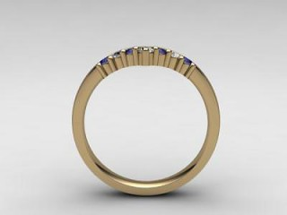 Blue Sapphire and Diamond 0.26cts. in 18ct. Yellow Gold