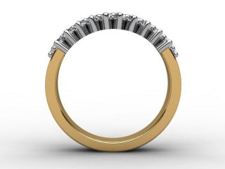Half-Set Diamond Eternity Ring 0.92cts. in 18ct. Yellow & White Gold