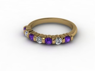 Amethyst and Diamond 0.70cts. in 18ct. Yellow Gold-88-18033-112
