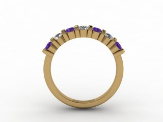 Amethyst and Diamond 0.70cts. in 18ct. Yellow Gold
