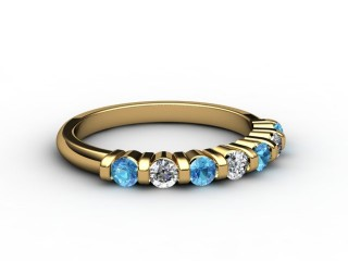 Blue Topaz and Diamond 0.82cts. in 18ct. Yellow Gold-88-18033-113