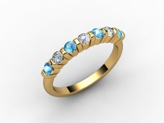 Blue Topaz and Diamond 0.82cts. in 18ct. Yellow Gold