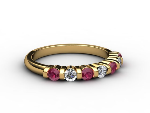 Ruby and Diamond 0.88cts. in 18ct. Yellow Gold