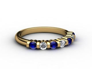Blue Sapphire and Diamond 0.88cts. in 18ct. Yellow Gold-88-18033-147