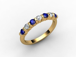 Blue Sapphire and Diamond 0.88cts. in 18ct. Yellow Gold