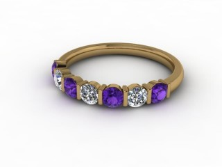 Amethyst and Diamond 0.60cts. in 9ct. Yellow Gold-88-09052-112