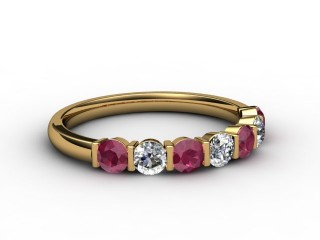 Ruby and Diamond 0.76cts. in 18ct. Yellow Gold