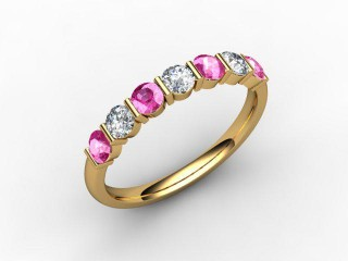Pink Sapphire and Diamond 0.75cts. in 18ct. Yellow Gold - 12