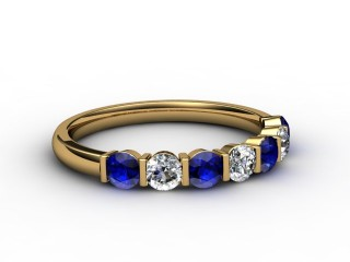Blue Sapphire and Diamond 0.75cts. in 18ct. Yellow Gold-88-18052-147
