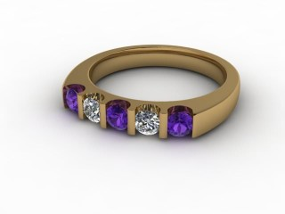 Amethyst and Diamond 0.54cts. in 18ct. Yellow Gold-88-18056-112