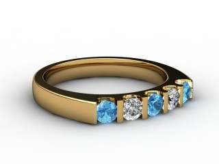 Blue Topaz and Diamond 0.63cts. in 18ct. Yellow Gold-88-18056-113