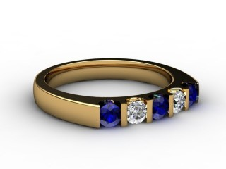 Blue Sapphire and Diamond 0.68cts. in 18ct. Yellow Gold-88-18056-147