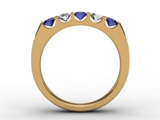 Blue Sapphire and Diamond 0.68cts. in 18ct. Yellow Gold
