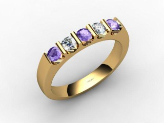 Tanzanite and Diamond 0.61cts. in 18ct. Yellow Gold