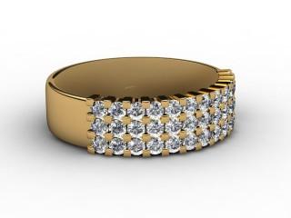 Half-Set Diamond Eternity Ring 0.72cts. in 18ct. Yellow Gold-88-18067
