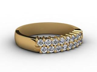 Half-Set Diamond Eternity Ring 0.50cts. in 18ct. Yellow Gold-88-18068
