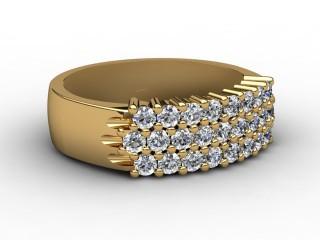 Half-Set Diamond Eternity Ring 0.75cts. in 18ct. Yellow Gold-88-18069