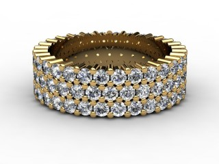 Full Diamond Eternity Ring 2.70cts. in 18ct. Yellow Gold-88-18070