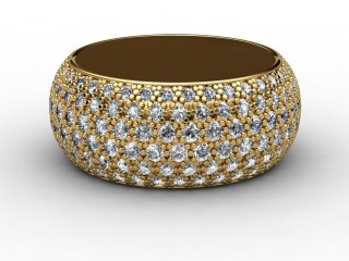 Full Diamond Eternity Ring 2.16cts. in 18ct. Yellow Gold-88-18071