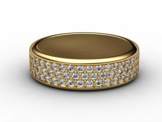 Half-Set Diamond Eternity Ring 0.77cts. in 9ct. Yellow Gold-88-09076